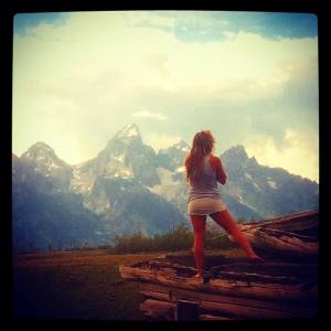becca in the tetons